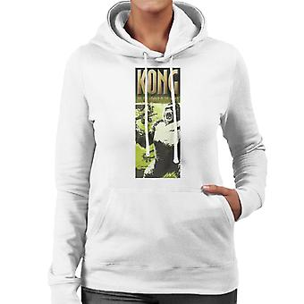 King Kong Being Swarmed By Biplanes The 8th Wonder Of The World Women's Hooded Sweatshirt