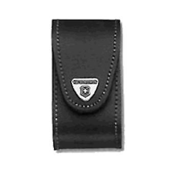 Victorinox svart läderbälte Pouch (5-8 Lager) -