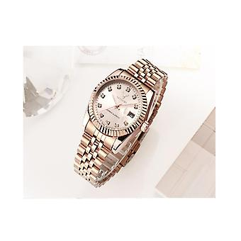 Ladies Watch Rose Gold Women Woman Smart Watches Two Tone Present UK Stock