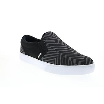Osiris Jet Set  Mens Black Canvas Skate Inspired Sneakers Shoes
