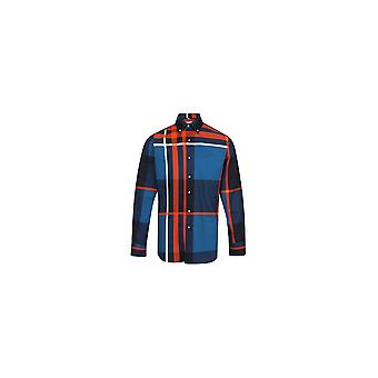 Jenson Samuel Red & Blue Large Check Long Sleeved Regular Fit Shirt