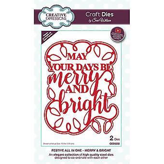 Kreative Ausdrücke Weihnachten - festliche Sammlung Schneiden stirbt - fröhlich und hell