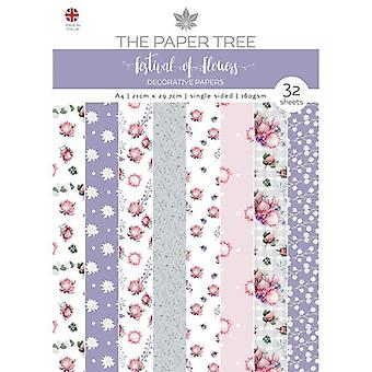 The Paper Tree - A Festival of Flowers Collection - A4 Backing Papers Pack