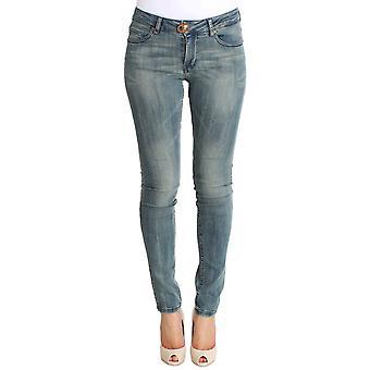 Plein Sud Plein Sud Light Blue Wash Cotton Stretch Skinny Slim Tight Fit Jeans