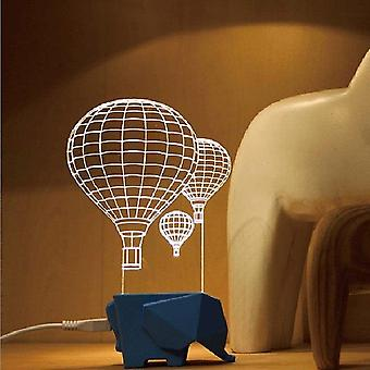 3d Visual Night Light Elefante Globo aerostático