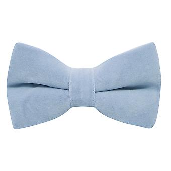 Pajarita de terciopelo azul bebé claro