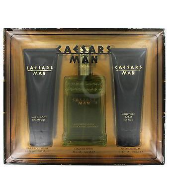 Caesars lahjasetti Caesars 4 oz Köln Spray + 3,3 oz suihkugeeli + 3,3 oz parranajovoiteen jälkeen