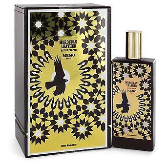 Moroccan Leather Eau De Parfum Spray By Memo 2.5 oz Eau De Parfum Spray