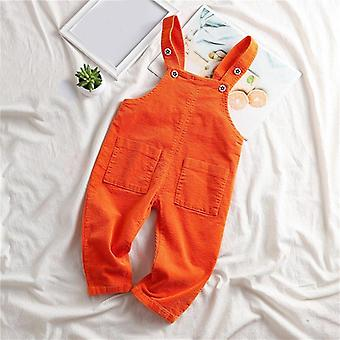 2021 Autumn Spring New Overalls Pants  Corduroy Baby Pants / Clothing