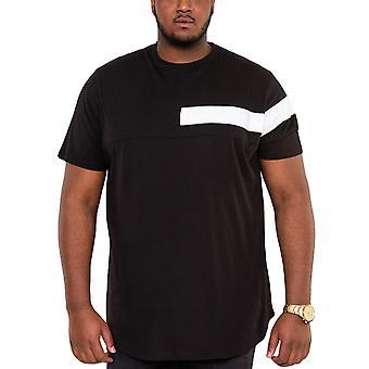 Duke D555 Mens Beat Big Tall King Size Couture Curved Hem T-Shirt Tee Top Black