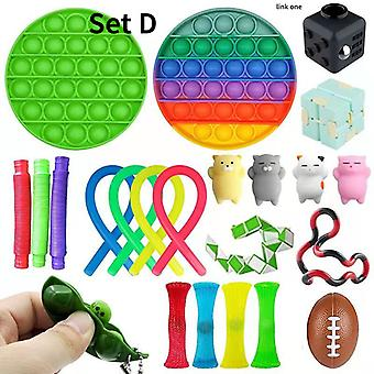 Sensorische Fidget Speelgoed Bundel Dna Stress Relief Ballen Met Fidget Hand Toys Rainbow Push pop Toys Stick Ball