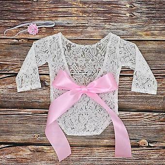 Baby Fotografie Requisiten Kleidung Bodys süße Spitze Schleife Kleinkind