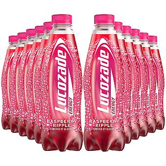 12 Pk of 900ml Lucozade Energy Raspberry Ripple Sugar-Free Sparkling EnergyDrink