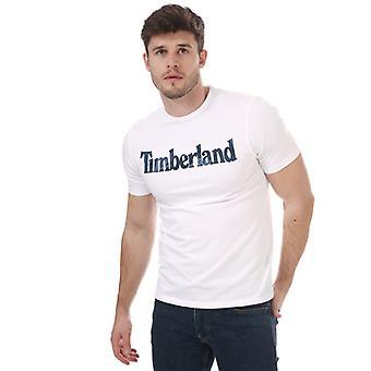 Timberland Camo Lineær T-skjorte for menn i hvitt