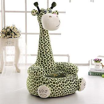 Barn soffa bekväm tecknad bomull djur giraff bärbar stol