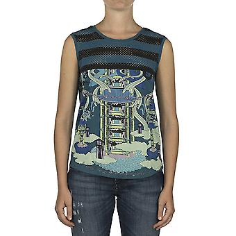 Custo Barcelona Women Tank top Miami Temple Blue Multicolor
