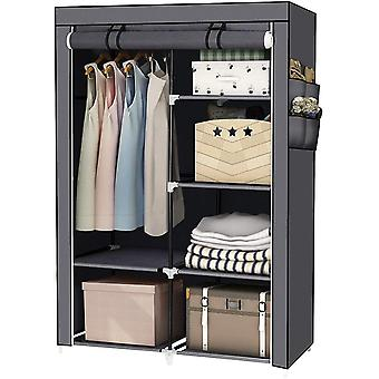 Gerui Wardrobe Storage Closet Portable Closet Storage Organizer with Non-Woven Fabric and Hanging