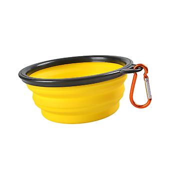 Portable Outdoor Pet feed bowl Foldable Silicone travel Bowl