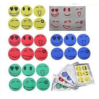 Smiling face mosquito repellent sticker - multi color