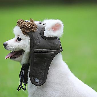 1Pcs Herbst Winter Flieger Mütze Maskottchen Kostüm Cosplay winddichte Pilot Kappe für kleine mittlere große Hund