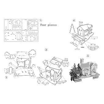 Children 3d Wooden Puzzle Construction Game Toy
