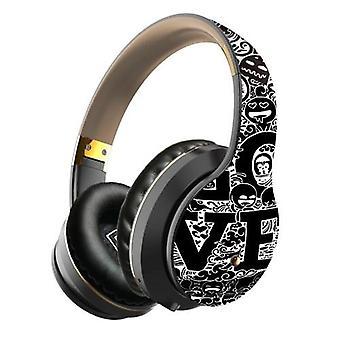 EL-B1 BT5.0 Langattomat kuulokkeet Graffiti Taittuvat Teleskooppikuulokkeet Tuki TF-kortti FM-tila 3,5mm Liitin