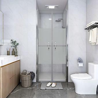 vidaXL Shower door half-matte ESG 86x190 cm