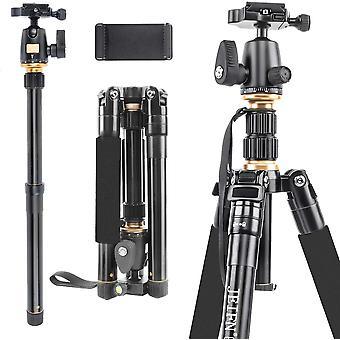 """FengChun 60""""Leichtes Stativ fr Kamera und Telefon, tragbares Aluminium-Reisestativ mit Einbeinstativ"""