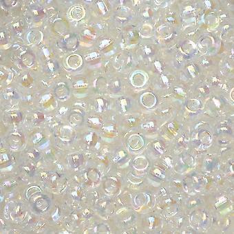 Miyuki Round Seed Beads, 8/0, 22 Gram Tube, #9250 Crystal AB
