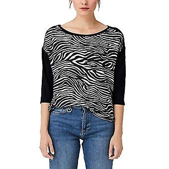 s.Oliver 21.909.39.5904 T-paita, Musta (Musta AOP Quadrat 99A0), 44 (Koko Valmistaja:38) Nainen