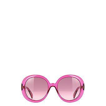 Gucci GG0712S lunettes de soleil rose transparentes féminines