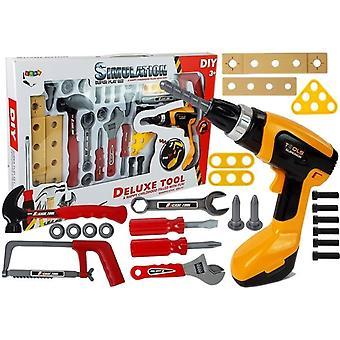 Outils jouet avec perceuse - 29 pièces - Boîte à outils pour enfants