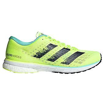 أديداس Adizero Adios 5 السيدات تشغيل المدرب حذاء الأصفر / الأزرق