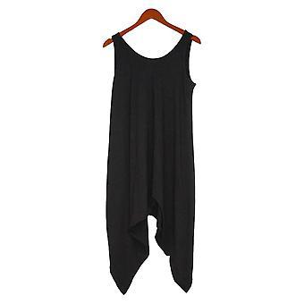 أي شخص Jumpsuits متوسطة صغيرت دافئ متماسكة رومبر قطعة واحدة الأسود A307757