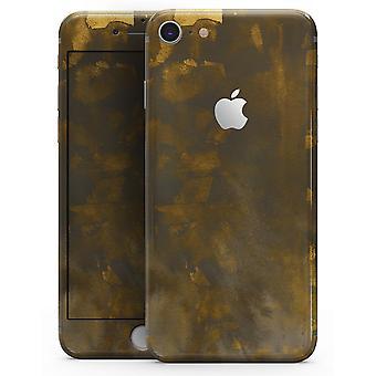 Abstract Gray închis și cioburi de aur - Skin-kit pentru iPhone 8 sau 8