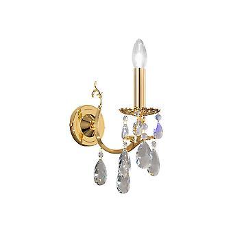 Classic Crystal Candle Wandlamp Gepolijst Goud, 1x E14