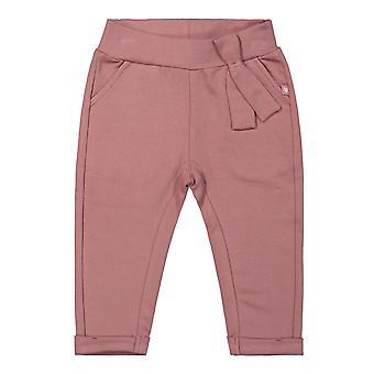 Dirkje Růžové dívčí kalhoty červenaly růžově