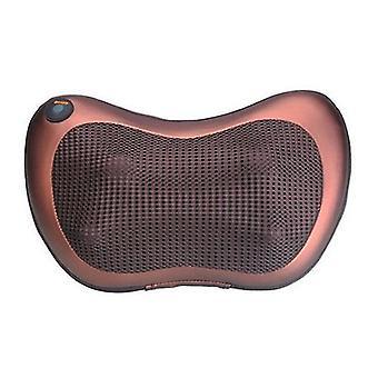 Massageador de costas com calor, almofada elétrica de massagem nas costas para trás, travesseiro de massagem unissex