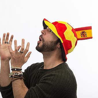 Fotbollshatt med spansk flaggutsmyckning
