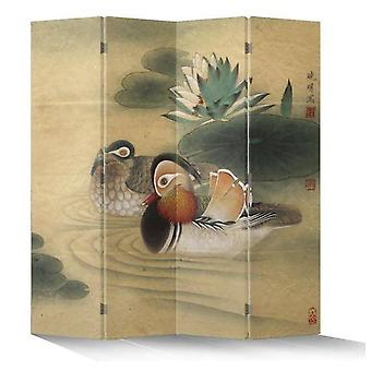 Fine Asianliving Chinese Oriental Room Divider Folding Privacy Screen 4 Panneaux W160xH180cm Mandarin Ducks