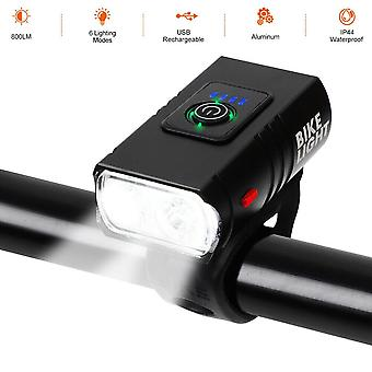 10W LED Bicycle Bike Head Light USB Rechargeable Waterproof Front Rear Tail Lamp
