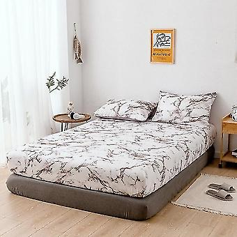 Marble Printing Bed Mattress Cover Stain Resistant Non Slip Fitted High