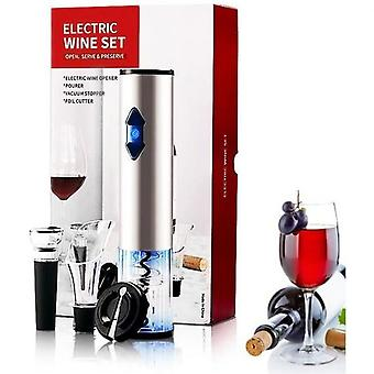 Electric Corkscrew Wine Opener Gift Set With Rechargeable Corkscrew Capsule Cutter Wine Pourer And Stopper