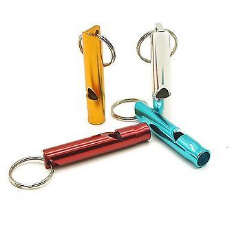 Ciondolo whistle multifunzione in metallo per esterni con portachiavi