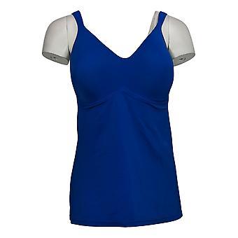 Rhonda Shear Plus Camisole Molded Cup Blue Chemise 630961