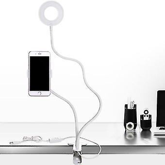 Lampă de lumină cu inel de selfie cu led dimmable cu suport pentru telefon