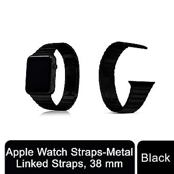 Apple Watch Straps - Metall verknüpft Riemen, schwarz, 38mm