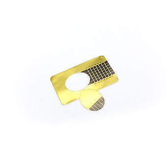 Nagelschablonen / Nagelformen Klebstoff Gold 100 Stück
