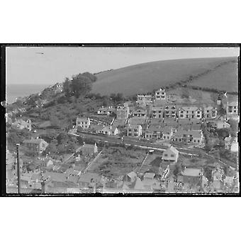 West Looe & The Downs from Shutta Rd. Large Framed Photo. Extensive house building.