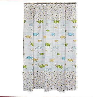Douchegordijnen vis patroon badkamer gordijn waterdichte douchegordijnen voor badkamer waterdichte douche 80 * 180cm